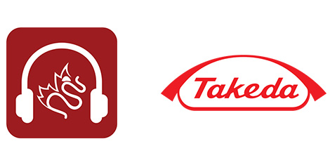 cag podcast takeda logos