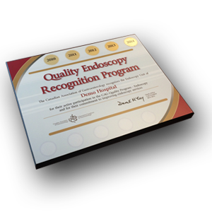 quality recognition plaque